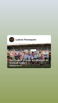 Rugby Canton Puy L'eveque Ecole de Rugby : -14 ans
