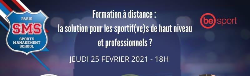 Webinaire : Formation à distance : la solution pour les sportifs de haut niveau & professionnels ?