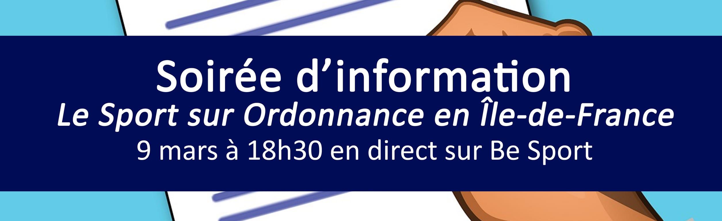"""Soirée d'information """"Le Sport sur ordonnance en Ile-de-France"""""""